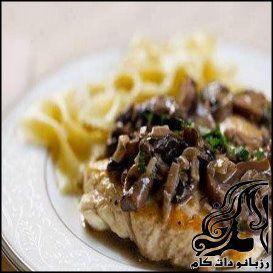 طرز تهیه مرغ با سس قارچ