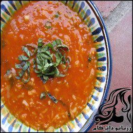 طرز تهیه سوپ گوجه فرنگی با برنج