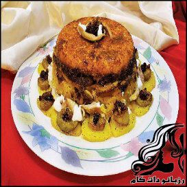 طرز تهیه بادمجان پلوی شیرازی