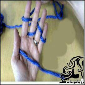 بافت با دست و انگشت