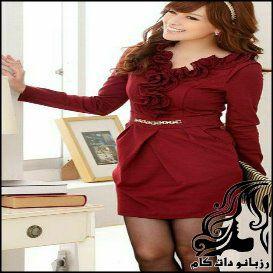 لباس سرهمی یقه حلزونی