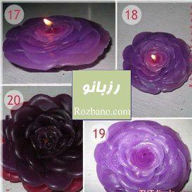 آموزش ساخت شمع گل رز