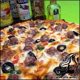 طرز تهیه پیتزا گوشت قلقلی