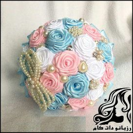 ساخت دسته گل عروس با روبان