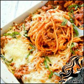 طرز تهیه اسپاگتی پیتزا