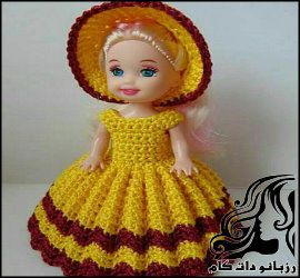 آموزش بافت لباس عروسک