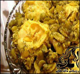 طرز تهیه خوراک شوید باقالی