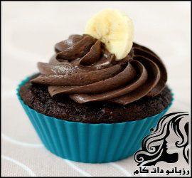 کاپ کیک موزی با رویه شکلات