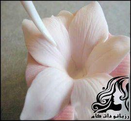 آموزش ساخت گل خمیر چینی لیلیوم