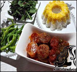 طرز تهیه خوراک گوشت با آلوچه