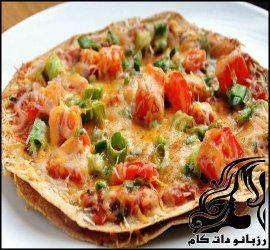 طرز تهیه پیتزا با نان لبنانی