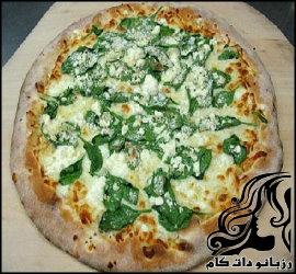 طرز تهیه پیتزا اسفناج با سبزیجات