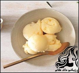 طرز تهیه بستنی پرتقال و عسل
