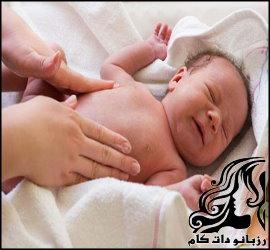 دل درد و قولنج کردن نوزاد