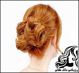 بافت مو گره ای پشت سر بصورت تصویری
