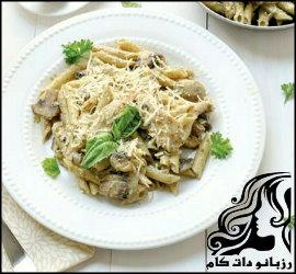طرز تهیه اسپاگتی با مرغ و سس آلفردو