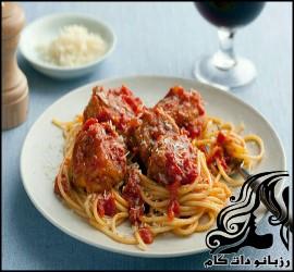 طرز تهیه اسپاگتی با کوفته قلقلی پنیری