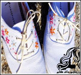 گلدوزی روی کفش