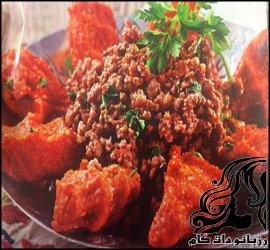 طرز تهیه کباب عربی با کوفته سیب زمینی