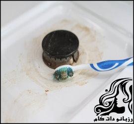استفاده از مسواک برای تمیزکاری