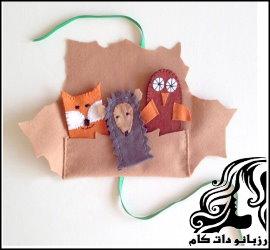 آموزش تصویری ساخت پاکت برای عروسک انگشتی