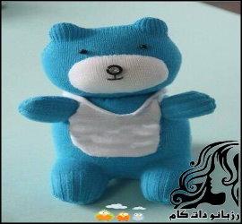 آموزش ساخت عروسک خرسی با جوراب