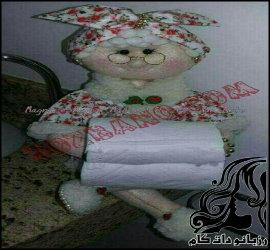ساخت عروسک دستمال رول برای حمام