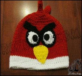 آموزش بافت کلاه مدل پرندگان خشمگین (انگیری برد)