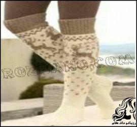 آموزش بافت جوراب زیبا