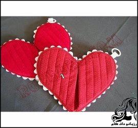 آموزش دوخت دستگیره قلبی زیبا