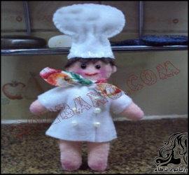 آموزش تصویری ساخت عروسک سرآشپز