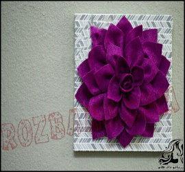 آموزش ساخت تابلوی گل