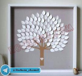 آموزش ساخت تخته یادبود مدل برگ درخت
