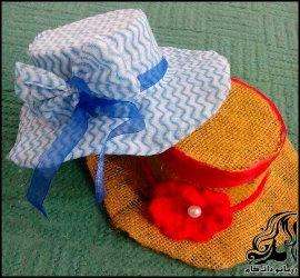 ساخت کلاه تزیینی با سطل یکبار مصرف
