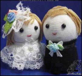 آموزش ساخت عروسک عروس و داماد با جوراب