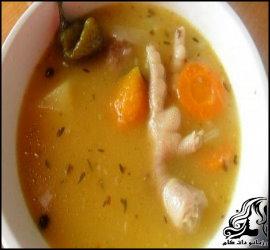 طرز تهیه سوپ پای مرغ