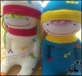 آموزش ساخت عروسک زیبا با جوراب
