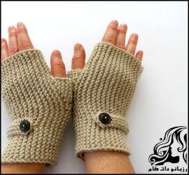 آموزش بافت دستکش بدون انگشت زنانه