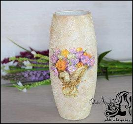آموزش ساخت گلدان با نمای فسیل