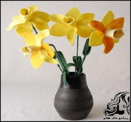 آموزش تصویری ساخت گل نرگس