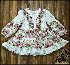 دوخت لباس دخترانه همراه با الگو