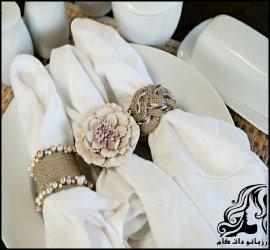حلقه های نگهدارنده ی دستمال سفره