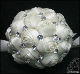 ساخت دسته گل عروس روبانی