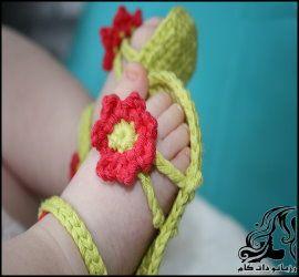 آموزش بافت صندل گلدار نوزاد