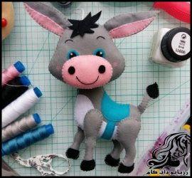 آموزش تصویری ساخت عروسک الاغ نمدی