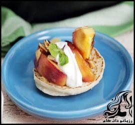 طرز تهیه پنکیک نارگیلی با سس میوه