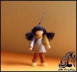 آموزش ساخت عروسک نمدی فلوت زن