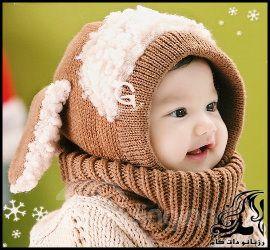 آموزش بافت کلاه یکسره عروسکی دخترانه دومیل
