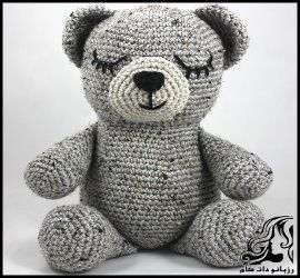 آموزش بافت عروسک خرس خواب آلود