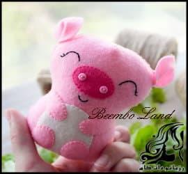آموزش دوخت خوک عروسکی